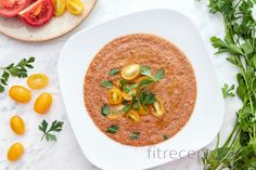 Jednoduchá gazpacho polievka - studená Tofu, Food And Drink, Ethnic Recipes, Gazpacho, Per Diem