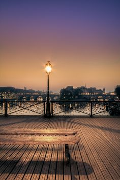 Pont des Arts, linking the Institut de France and the central square of the Palais du Louvre - Paris, France Places Around The World, Oh The Places You'll Go, Places To Travel, Places To Visit, Around The Worlds, Paris Travel, France Travel, Most Beautiful Cities, Beautiful World
