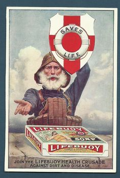 Vintage Advertising Leaflet - Lifebuoy Soap Lever Brothers Ltd Port Sunlight UK