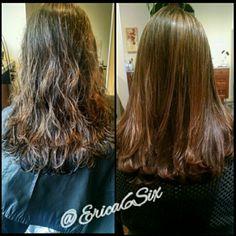 Before and After  Goldwell Kerasilk Keratin Smoothing Treatment