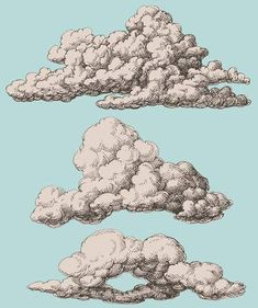Illustration of Detailed vintage style clouds vector set vector art, clipart and stock vectors. Cloud Drawing, Painting & Drawing, Sketch Cloud, Ink Pen Drawings, Art Drawings Sketches, Cloud Illustration, Creation Art, Cloud Vector, Arte Sketchbook