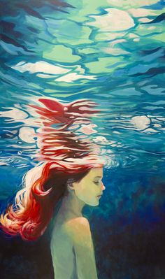 A painting of a girl under water/ Robin Good