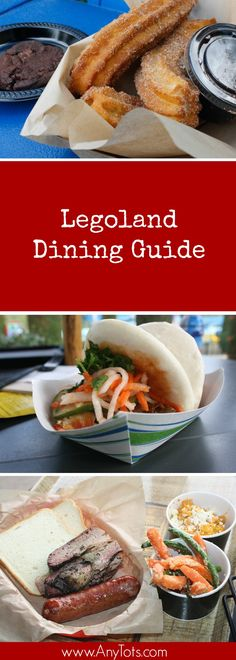 Legoland Food to try when visiting Legoland California. From Main Entree to Dessert to snacks in between.