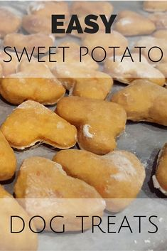 Try this super easy recipe for Sweet Potato Dog Treats! Using only 4 ingredients… Try this super easy recipe for Sweet Potato Dog Treats! Using only 4 ingredients, the simple and healthy treats were a hit with all of our doggy friends. Dog Cookie Recipes, Easy Dog Treat Recipes, Homemade Dog Cookies, Dog Biscuit Recipes, Homemade Dog Food, Dog Food Recipes, Recipe For Dog Biscuits, Doggie Cookies Recipe, Homemade Dog Biscuits