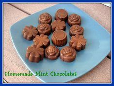 2 cups coconut oil  1 1/4 cups cocoa powder  1 3/4 teaspoons mint extract  2 tablespoons honey  10 drops SweetLeaf clear liquid stevia - -  Holla! Homemade Mint Chocolates!!