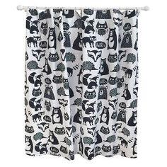 Forest Friends Shower Curtain Ebony Opaque - Pillowfort™