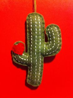 Felt Cactus of Love Ornament by LifeOfLeisureCrafts on Etsy