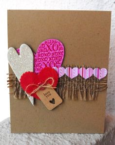 hearts and burlap
