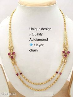 Checkout this latest Mangalsutras Product Name: *AD DIAMOND DESIGNER 2 LAYER MICRO GOLD PLATED MANGALSUTRA * Sizes:Free Size (Length Size: 18 in)  Easy Returns Available In Case Of Any Issue   Catalog Rating: ★4.1 (902)  Catalog Name: Princess Chic Mangalsutras CatalogID_1418258 C77-SC1097 Code: 292-8429474-807