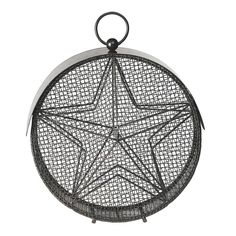 Turn a backyard or porch into a convenient dining spot for interesting local birds with this modern birdfeeder with star design. Birds can feed from both sides of the metal cage, making them easily visible for watching. Unobtrusive design blends into the scenery.