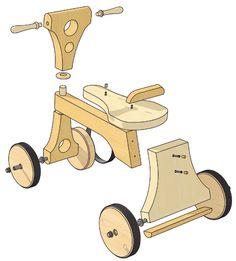 Noël est là ! Découvrez comment réaliser ce grand classique des jouets pour enfants. Ce vélo en bois est vraiment très plaisant à faire – la construction en est simple et ne requiert qu'un minimum de bois. Vous obtiendrez au bout du compte un jouet robuste, qui pourrait bien entrer dans l'héritage familial. Cette catégorie de jouets …