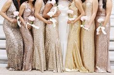 20 Metallic Bridesmaid Dresses To Add Sparkle To Your Wedding Party ahem... @ralucap