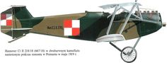 Hannover CL.II Unit: unknown Serial: 218/18 (667/18) Two-tone scheme fitted during maintenance in Poznian in May 1919.