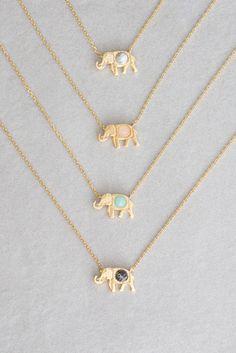 Elephant Stone Necklace