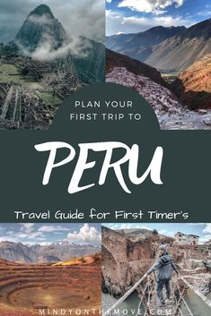 Peru is a magical place and I'm sure you want to enjoy your first trip to Peru to the fullest, right?  Well, before you go, be sure to sift through my guide for planning your first trip wisely.  Being prepared will enable a stress-free and unforgettable experience.    #peru #perutravel #southamerica #southamericatravel #travelguide #traveldreams #traveldestinations #traveltips #travelblog #machupicchu #andes #exploremore #adventuretravel #wanderlusttravel