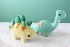 PDF Pattern Felt Stegosaurus and Brontosaurus Dinosaur Plush
