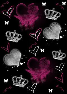 glitter photo: glittery heart n crown glitter. Queens Wallpaper, Heart Wallpaper, Love Wallpaper, Cellphone Wallpaper, Black Wallpaper, Pattern Wallpaper, Screen Wallpaper, Iphone Wallpaper, Heart Graphics