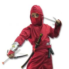 This is an authentic ninja uniform that is built to last. - Not cheap costume material. Our ninja scout costume is a KarateMart.com exclusive! Our kids ninja costume sets are made of high quality authentic ninja uniforms (not costumes) which allow them to be used for more than just one night. Whenever your little martial artists wishes to play ninja, have him throw on this costume and he will be entertained for hours! Perfect for both boys and girls!  Children's Ninja Costume Includes:  Au…