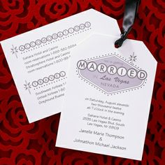 Married In Vegas Invitation Wedding Ideas Invites Invitations View A Proof Online