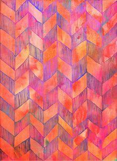 Orange, pink, purple