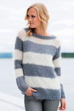 Strik en stribet sweater