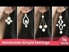 4 Easy Braided Earrings. Simple Handmade Earrings Ideas. - YouTube