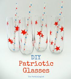 easy to make glasses with contact paper and you can take it off and change the decoration with each holiday!