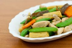 Stir Fried Sugar Snap Peas with chicken from Christine's Recipes