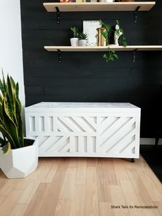 This plywood storage box is easy to build from just ONE sheet of plywood and it's perfect for storing firewood, board games, blankets and pillows, or decor. Wood Storage, Wood Storage Box, Entryway Bench Storage, Diy Storage, Diy Storage Ottoman, Plywood Storage, Storage, Wooden Storage Bench, Wooden Storage