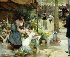 a-flower-market-in-paris-louis-de-schryver