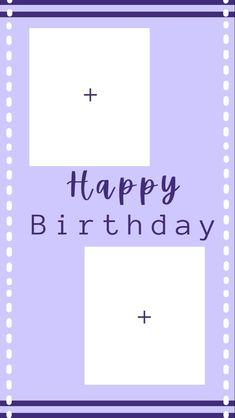Happy Birthday Posters, Happy Birthday Frame, Happy Birthday Wallpaper, Happy Birthday Wishes Cards, Birthday Quotes, Birthday Captions Instagram, Birthday Post Instagram, Happy Birthday Template, Birthday Collage