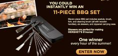 Win 1 of 2,544 11 piece of BBQ sets from HERSHEYs