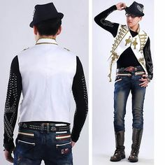 White Embroidered Gothic Indie Fashion Waistcoats Vests Clothing Men  SKU-11401368