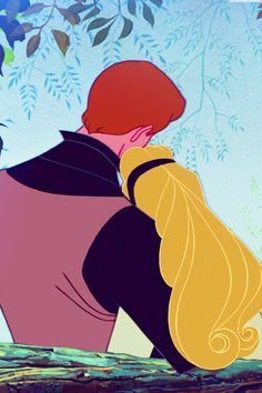 Prince Phillip and Aurora; Beautiful animation, but damn is it weird to watch this Disney film as an adult ... the creepiness