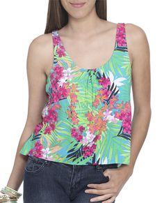 printed challis tank $19.90 (wet seal)