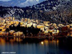 Sunset in Kastoria, Greece Macedonia Greece, Alexander The Great, Thessaloniki, Heaven On Earth, Greece Travel, San Francisco Skyline, New York Skyline, Tourism, Beautiful Places