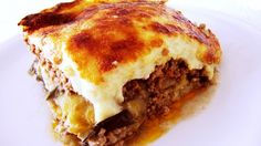 Traditional Greek Moussaka - Anne Zouroudi's authentic Greek mother-in-law's recipe, same as the one featured in Rick Stein's series Venice to Istanbul