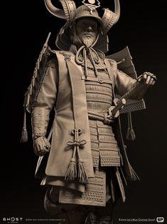 Ninja Wallpaper, Chinese Armor, Armadura Medieval, 3d Figures, Japanese Warrior, Ghost Of Tsushima, Cosplay Armor, Samurai Armor, Kendo