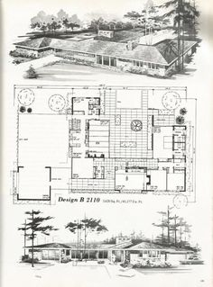 image result for vintage l shaped house plans found in pacific