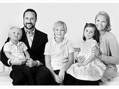 Crown Prince Haakon of Norway with his wife & family