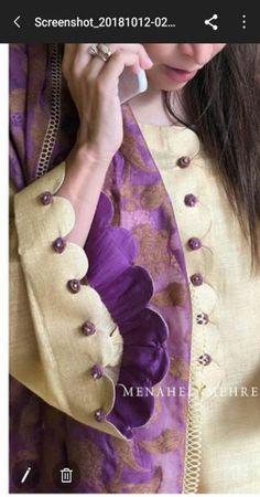 Best 12 Kurtis design – Page 318207529920529471 – SkillOfKing. Kurti Sleeves Design, Sleeves Designs For Dresses, Neck Designs For Suits, Kurta Neck Design, Dress Neck Designs, Sleeve Designs For Kurtis, Salwar Designs, Kurta Designs Women, Kurti Designs Party Wear