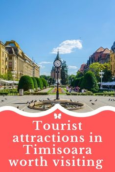 """""""Vienna of the East"""", """"The heart of Banat"""", """"The town of Bega"""", """"The city of flowers"""" are just a few of the names that inhabitants and tourists used to describe Timisoara, a beautiful city loved by all the visitors.  It is an atypical city for Romania, but in a nice way, not being littered with many buildings. Also, those who visit Timisoara even once, will never forget this city. Atypical, The Visitors, Cool Places To Visit, Vienna, Romania Tours, The Good Place, Attraction, Buildings, Louvre"""