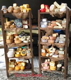 I think I've seen enough mini cheese to last a lifetime . Miniature Kitchen, Miniature Crafts, Miniature Houses, Miniature Food, Miniature Dolls, Diy Dollhouse, Dollhouse Miniatures, Tammy Doll, Vitrine Miniature