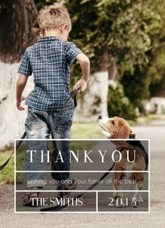 Send a #thankyou note to family and friends with this customizable text & image card | CatPrint Design #481