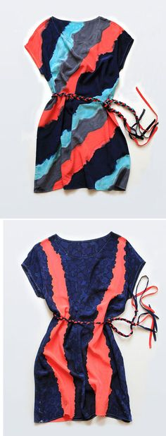 Dress / hand-painted silk dresses by Rachel Rose. via Unruly Things #dress