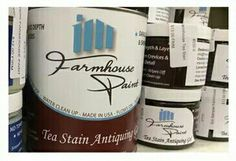 Tea Stain Antiquing Gel by Farmhouse Paint.  No more WAX!!!