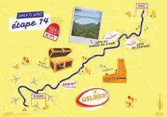 La quatorzième étape du Tour de France par deux degrés et Mélanie Béguier Sam Sam, Map, Location Map, Maps