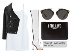 """""""Untitled #982"""" by arianas12 ❤ liked on Polyvore featuring MANGO, Acne Studios, Christian Dior and Givenchy"""