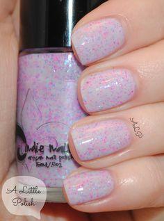 Jindie Princess Bubblegum, swatched on nail wheel 1x, $7