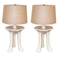 "John Dickinson Pair of ""Africa"" Table Lamps"